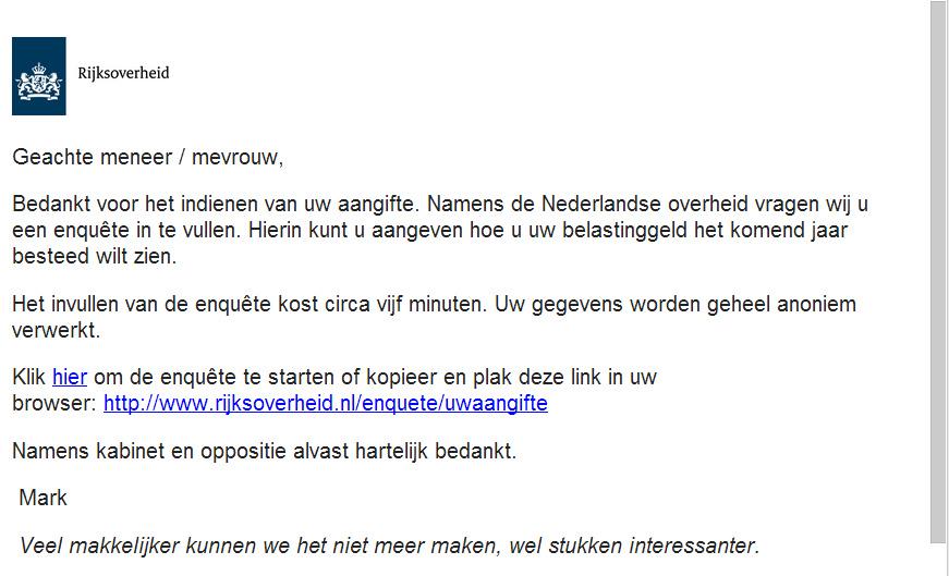 e-mail belastingsdienst