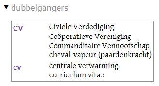 cv-Van Dale